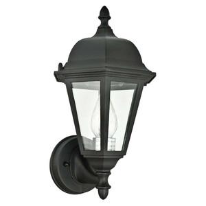 Sunset Lighting F7847-62 Clear Glass 1-Light Rubbed Bronze Cast Aluminum Lantern