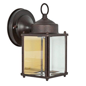 """Sunset Lighting F6840-62 Rubbed Bronze 1 Light 8"""" Height Outdoor Wall Sconce"""