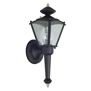 "Sunset Lighting F6884-31 Black 1 Light 15"" Height Outdoor Wall Sconce"