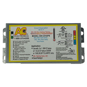 AC Electronics CSS-UV42PS Multi-Lamp Stock Saver Ballast
