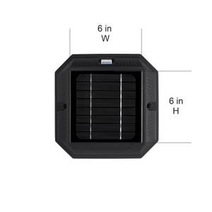 "Colonial Solar Light - w/GS Solar Light Bulb - 3"" Fitter - Black"