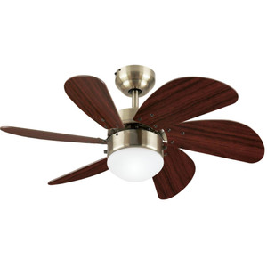 Westinghouse 7234700 Turbo Swirl 30-Inch Indoor Ceiling Fan with Dimmable LED Light Fixture