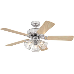 Westinghouse 7235400 Newtown 42-Inch Indoor Ceiling Fan with Dimmable LED Light Fixture