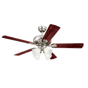 Westinghouse 7235900 Swirl 52-Inch Indoor Ceiling Fan with Dimmable LED Light Fixture