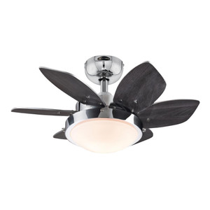 Westinghouse 7236600 Quince 24-Inch Indoor Ceiling Fan with Dimmable LED Light Fixture