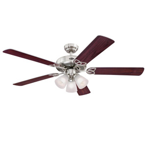 Westinghouse 7237100 Vintage 52-Inch Indoor Ceiling Fan with Dimmable LED Light Fixture