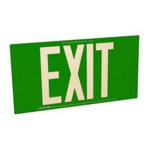 Fulham FLPL50SG Photoluminescent Green Exit Sign 50ft One Face