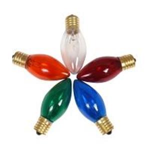 Halco C9RED7T 7 Watt Incandescent Bulb