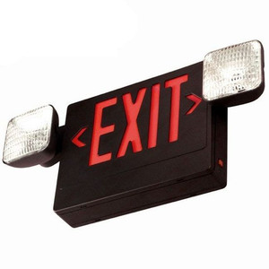 Black-Red LED Emergency Exit Plastic Combo Light Sign TCP-20794