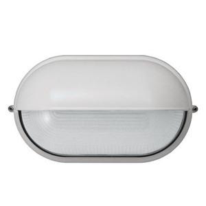 White Oval Eye Lid Outdoor Bulkhead Fixture