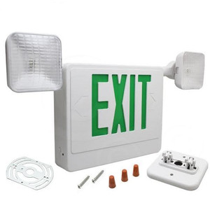 Fulham FHEC31-WG Double Face LED Combo Exit Sign Green Letters