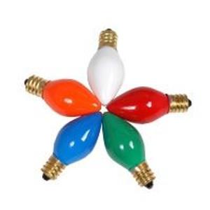 Halco C7RED5C 5 Watt Incandescent Bulb