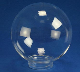 """Clear 8"""" Plastic Light Globe with Threaded Screw Neck"""