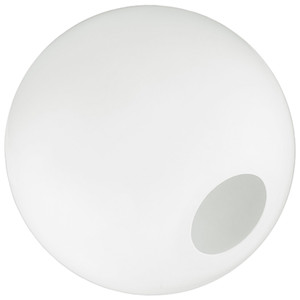 """18"""" White Plastic Acrylic Light Globe with Neckless Opening"""