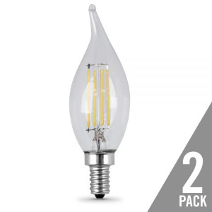 Feit Electric 2-Pack BPCFC40/827/LED/2 40W Replacement LED Flame Tip
