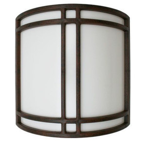 Brushed Rust Hallway ADA Compliant Modern LED Wall Sconce