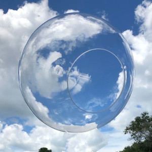 """12"""" Clear Acrylic Plastic Light Globe with Neckless Opening"""
