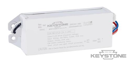 Keystone KTLD-24-1-24V-AK1 24W Constant Voltage LED Driver