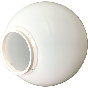 """20 Inch White Polycarbonate Light Globe with 8 """" Lip"""
