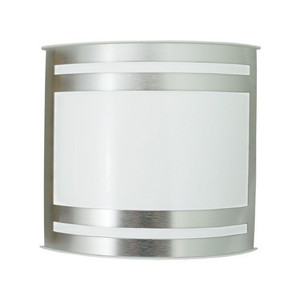 Brushed Aluminum LED Curved Wall Sconce Light with White Opal Acrylic Shade