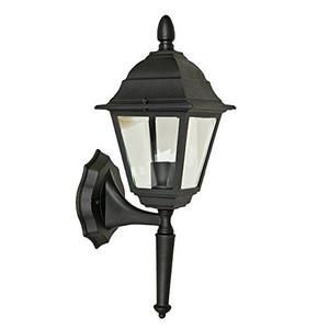 Sunset Lighting F7821-31 Clear Beveled Glass 1-Light Black Cast Aluminum Lantern