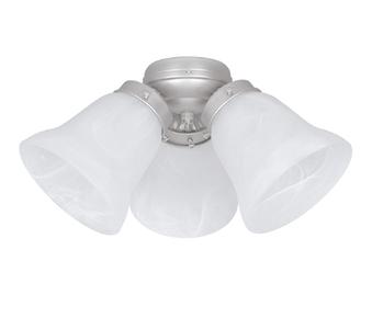 Sunset Lighting F7772-53 Satin Nickel 3-Light Faux Alabaster Glass Turtle Fan Light Kit