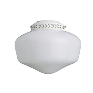 Sunset Lighting F7723-30 White 1-Light Schoolhouse Glass Ceiling Fan Light Kit