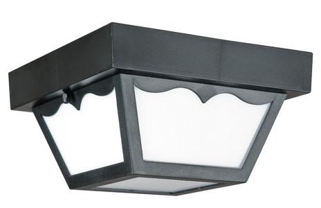 "Sunset Lighting F4343-31 Black 1 Light Outdoor 8"" Wide Fluorescent Flush Mount Ceiling Fixture"