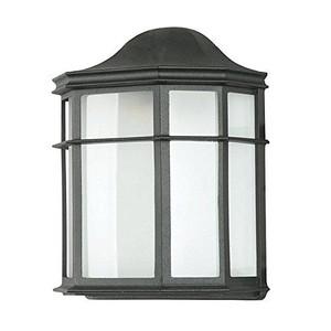"Sunset Lighting F7977-31 Black 1 Light 9.75"" Width Fluorescent Outdoor Wall Sconce"
