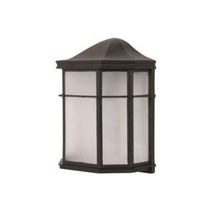 Sunset Lighting F9923-64-2-4K Provincial Bronze 9 Watts Frosted Acrylic Glass LED Wall Lantern