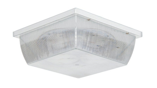 Sunset Lighting F9026-30 Clear Prismatic Acrylic Glass LED Ceiling Mount White Exterior Light
