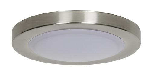 "Sunset Lighting F8807-80 Bright Satin Nickel Single Light 7-1/2"" Wide Integrated LED Energy Star Under Cabinet Puck Light"