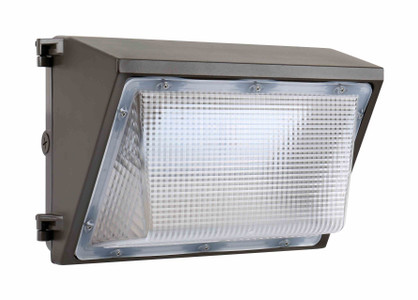 Commercial Outdoor LED Wall Pack Light Fixture with Emergency Battery Back-Up