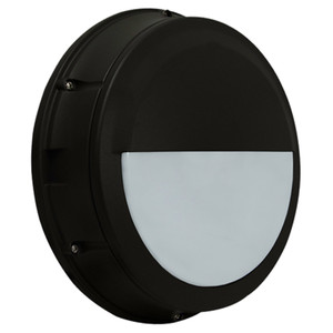 Commercial Outdoor LED Bulkhead with Battery Back Up Half Cutoff