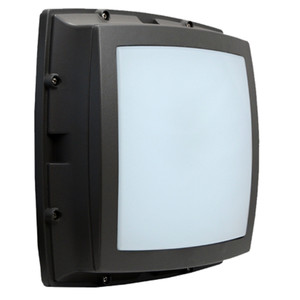 Commercial Square LED Bulkhead with Battery Back Up Open Frame