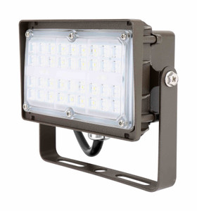 Commercial Outdoor LED Flood Light Fixture with Trunnion Mount
