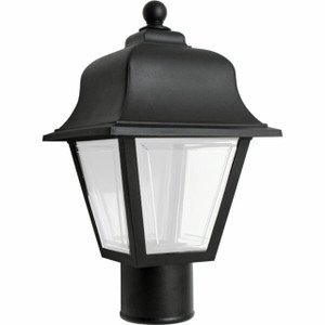 Black Coach Post Light Fixture Frosted Lens