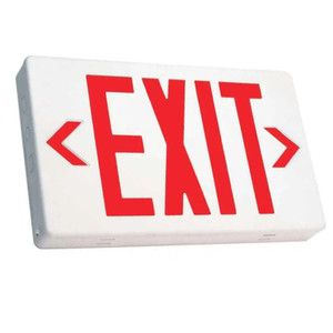 TCP 22743 Red LED Exit Sign with Battery Back Up