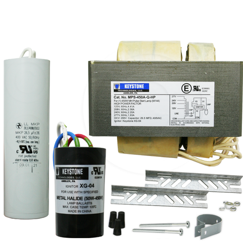 Keystone MPS-450A-Q-KIT 450W M144 Pulse Start Ballast Set 4 Tap