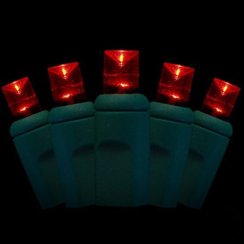 Red LED Xmas 50 Light Strand 2.4W Commerical Indoor Outdoor