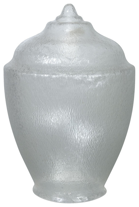 "Formed Plastics FP197-8PCC Replacement 20"" Plastic Victorian Acorn Globe 8"" Neck Lip"