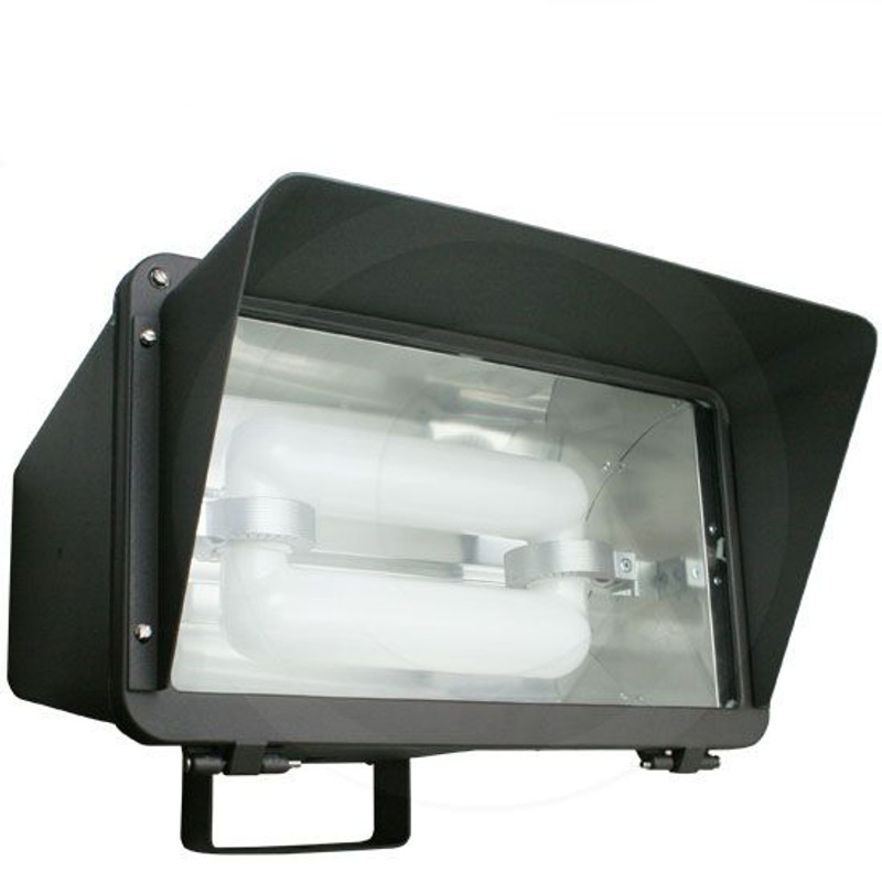 100W Induction Electrodeless Flood Light Glare Shield | 120V