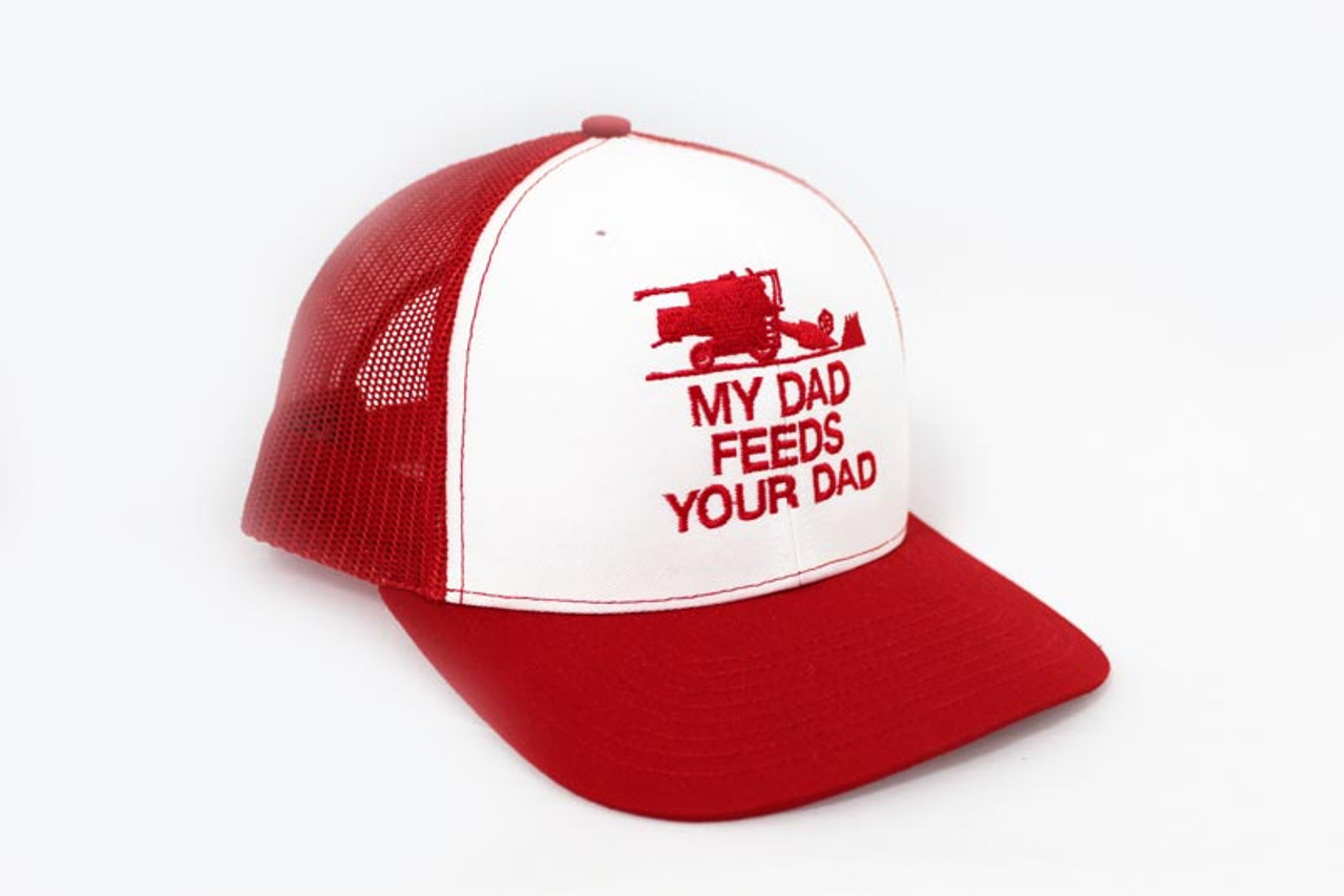 My Dad Feeds Your Dad Trucker Hat - Red 32b049f4aab
