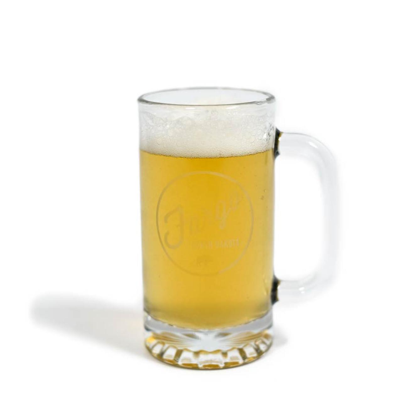 16 oz  Glass Fargo Beer Mug