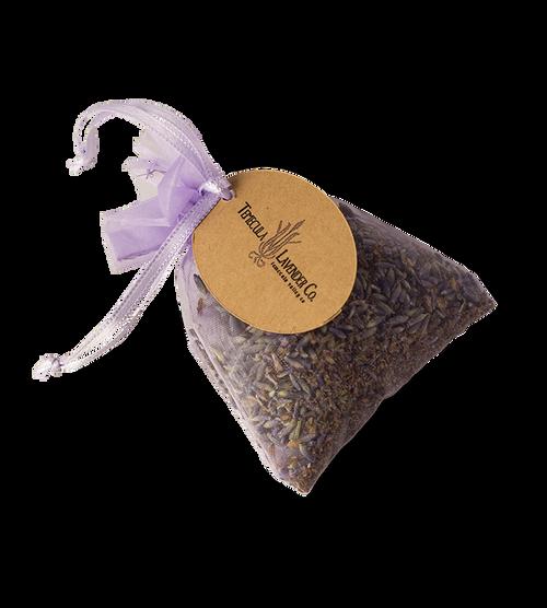 Temecula Lavender Co. – Lavender inside small organza sachet.