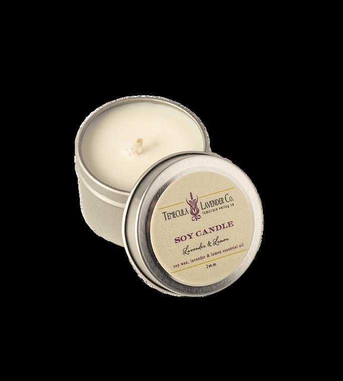 Temecula Lavender Co. Lavender & Lemon Soy Candle (2 oz.)
