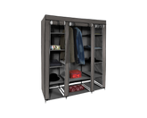 Portable Wardrobe With Cover Grey