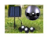 Solar LED Spotlight 3 Lamps White