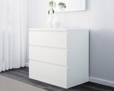 IKEA Clothes Drawer 3 Drawers MALM White