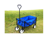 Garden Foldable Trolley Cart Blue